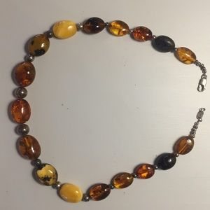 Amber necklace ATI from Poland 925